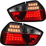 LED Lightbar Rückleuchten Set für BMW 3er E90 Limousine Bj. 05-08 rot weiß chrom
