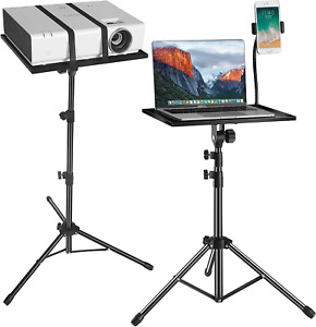 Projector Laptop Tripod Stand - Computer, Tablet, DJ Equipment Holder Mount with