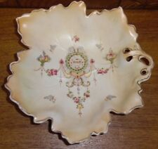 Antique 1912 Crown Devon SF&Co Stoke On Trent England Leaf Bowl - Erin