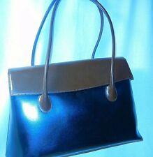 Womens SHOULDER Leather PURSE Large Black / Brown HandBag Hand Bag Tote