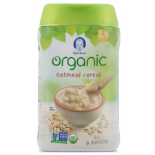 NEW GERBER ORGANIC OATMEAL CEREAL WHOLE GRAIN BABY FEEDING SUPPORTED SITTER CARE