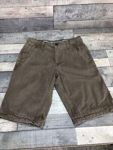 Men's Fat Face Dark Khaki Cargo/ Chino Cove Shorts 30 Waist