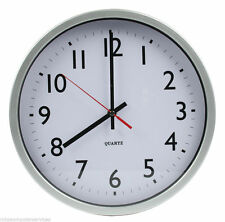 "12"" wall clock equipped with quartz technology, large easy-read dial home/office"