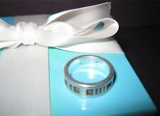 Tiffany & Co Atlas Collection Ring Size 5 Sterling Silver Pouch Box