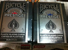 Bicycle Prestige  Playing Cards Red or Blue! 100% Plastic cards!