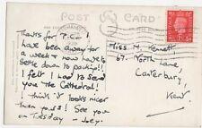 Miss M Kennett North Lane Canterbury 1939  162a
