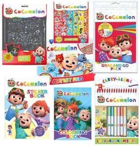 Cocomelon - Activity Sticker Colouring Fun Learning Books For Children Kids