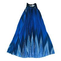 Trenery Women's A-Line Pleated Blue MIDI Dress Size 8 Fit 8 10