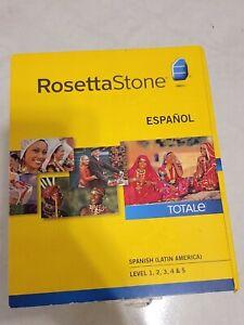 Rosetta Stone Spanish (Latin America) Level 1-5 Set New & Sealed