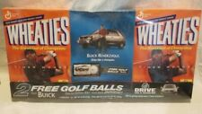 Rare 2002 Tiger Woods Wheaties / Buick Promo Boxes and Golf Balls Factory Sealed