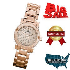 NEW Burberry BU9215 Watch Heritage Ladies Rose Gold Dial Stainless Steel Case