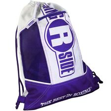 New Ringside Cinch Sack Backpack Gear Gym Equipment Carry Bag - Purple / White