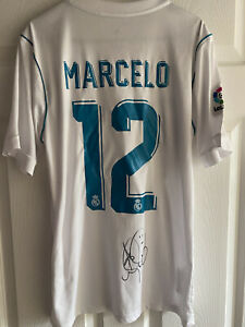 Signed Marcelo Vieira Real Madrid Home Shirt SEE PROOF Brazil Autograph Jersey