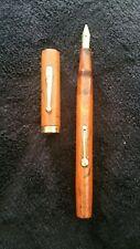 Vintage Ancien Stylo Plume Or Waterman's Idéal 52 Woodgrain Fountain Pen Ripple