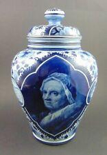 Hand bemalte Deckel Vase von Franz Anton Mehlem Bonn