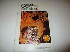 Twin Cities travel booklet 1968 (Minneapolis, Saint Paul) Ringling Brothers