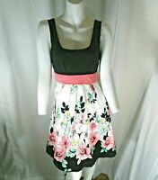 Maurices Women's Sleeveless Fit and Flair Floral Swing Dress 3/4