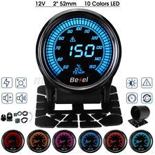 2'' 52mm LED Digital Oil Temp Temperature Gauge Car Meter 10 Colors