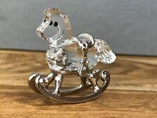 Swarovski Figur Schaukelpferd Rhodium 4,5 cm. Top Zustand