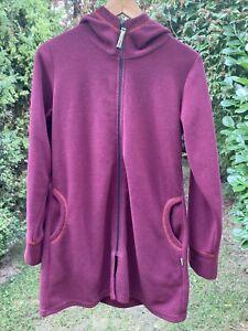 vishes Goajacke Eco Fleece mit Kapuze warme Jacke Sweater Goa, neuwertig, Gr. L