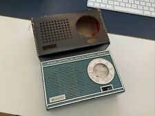 More details for solid state 9 satellite radio. vintage rare collectable with leather case.
