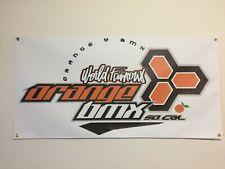 old school bmx orange y bmx race track BANNER 4ft X 2ft vdc hutch gt bike alley
