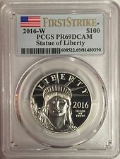2016-W $100 PLATINUM PROOF EAGLE PCGS PR69 FIRST STRIKE