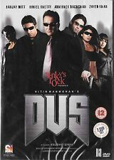 DUS - SANJAY DUTT - SUNIL SHETTY - ZAYID KHAN - NEW BOLLYWOOD DVD - FREE UK POST