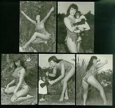 """BETTIE PAGE: THE QUEEN OF CURVES Complete """"IN JUNGLE LAND"""" Chase Card Set"""