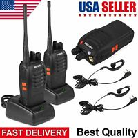 2x BaoFeng BF-888S UHF 400-470MHz Walkie Talkie 16 Channels Amateur 2 Way Radio