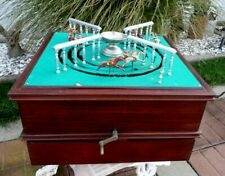 Antique French Jeu De Course Horse Racing Gambling Game, Complete, Vg Cond.