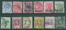 STRAITS SETTLEMENTS early used stamp & postmark collection