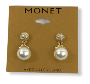 Monet Hypo-allergenic pearl tower earrings