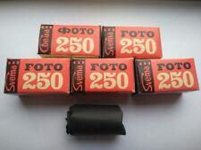5 Rolls 120 Black and White film Svema FN250 Camera Vintage Photo 250