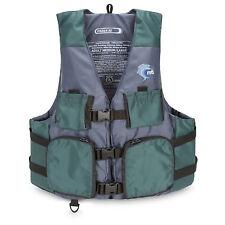 MTI Adventurewear Fisher Kayak Fishing PFD Life Jacket Green/Gray XLarge/XXLarge