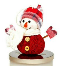 BATH & BODY WORKS 3-WICK CANDLE MAGNET RED SNOWMAN NEW