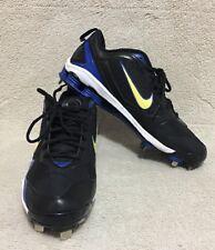 New Mens Size 13 Nike Shox Fuse 2 Baseball Cleats Black White Sport Royal 375764