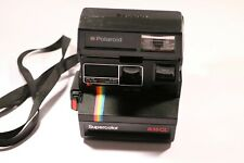 Vintage Polaroid Supercolor 635CL (cámara instantánea) Negro