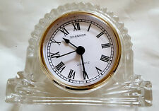 Shannon Crystal Design of Ireland Hand Crafted Lead Crystal Mantle Quartz Clock