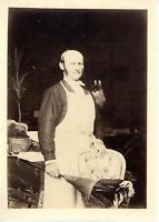 France, portrait, homme, domestique Vintage albumen print Tirage albuminé  1