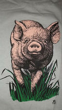 (2 Sided) Vintage 80's PIG pot bellied Hog South Dakota T-Shirt L SCREEN STARS
