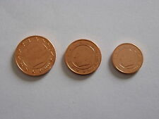 DESTOCKAGE : PIECES  1+2+5  CT  BELGIQUE  2004  NEUVES