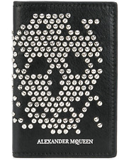 Alexander McQueen Wallet - BNWT Abstract Skull Stud  Leather Card Holder