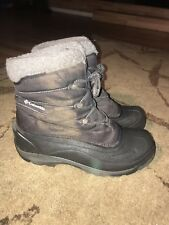 Columbia Cascadian Trinity Womens Winter Snow Waterproof Hiking Boots Size 10