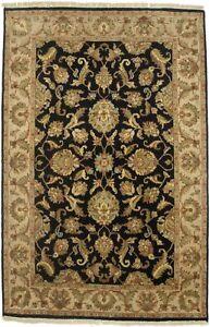Agra Jaipur Floral Design Hand-Knotted 4X6 Plush Oriental Rug Home Decor Carpet