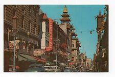 Chrome Postcard,Grant Ave.,Chinatown,San Francisco,California,Store Fronts