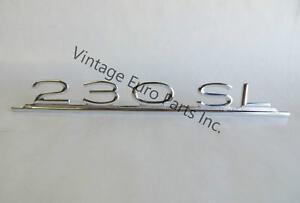 New 230sl Trunk Lid Emblem Fits Mercedes W113 230sl