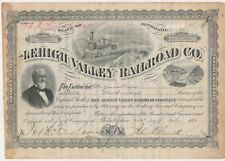 Lehigh Valley Railroad Co. 100 Shares of Capital Stock 1890