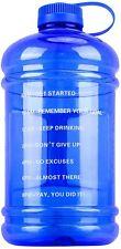 Motivational Large Water Bottle w/ Time Marker BPA Free 3 Liters 0.8 Gallon Jug