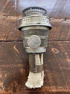 Vintage Aladdin Lamp Model B Nickel Plated Complete Burner With Wick